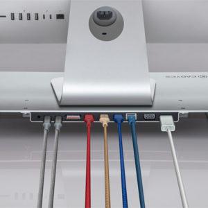 Desktop Docking Station With Multiple Cables